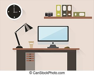 Office interior in the room