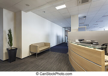 Office interior - Interior of a bank office, reception desk
