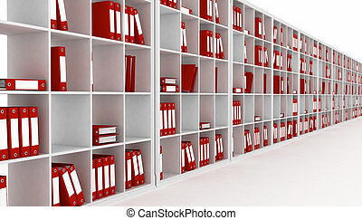 office interior, isolated on a white background