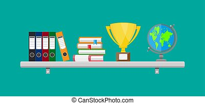 Office interior shelf