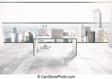 Office interior with city view - Office interior with...