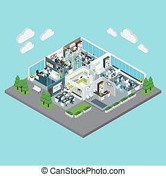 Office Isometric Composition
