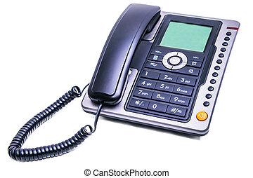 office landline phone isolated on white background