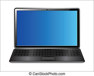 Office Laptop Vector - Abstract Conceptual Design Art of...