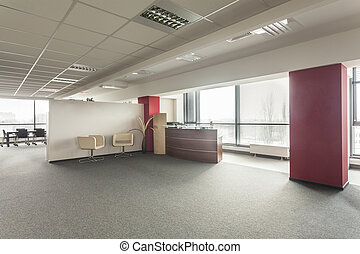 Office lobby - Lobby in a new contemporary and spacious ...