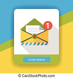 office mail flat icon