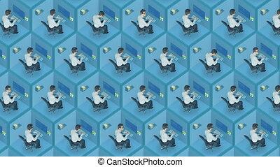 Office man employee worker best job head recruiter human...