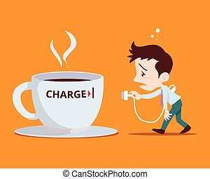 office man need to power charge