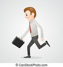 Office man running