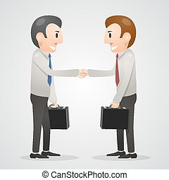 Office man shaking hands