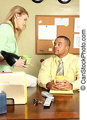 Office Man Woman