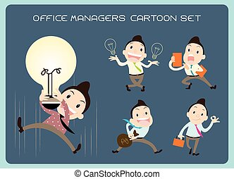 Office Manager Man Vector