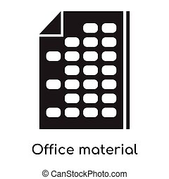 Office material icon isolated on white background