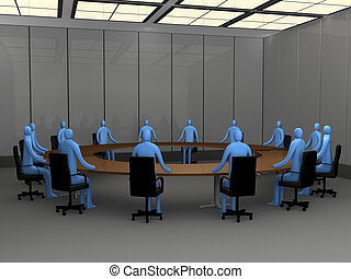 Office Moments - Meeting Room - Computer generated image -...