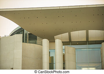 Office of the Federal Chancellor in Berlin - detail of the...