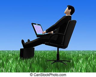 Office on grass
