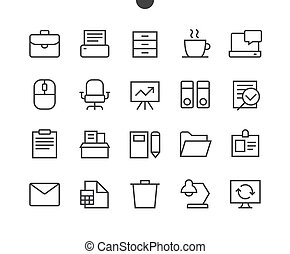 Office Outlined Pixel Perfect Well-crafted Vector Thin Line Icons 48x48 Ready for 24x24 Grid for Web Graphics and Apps with Editable Stroke. Simple Minimal Pictogram
