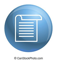 Office paper icon, outline style