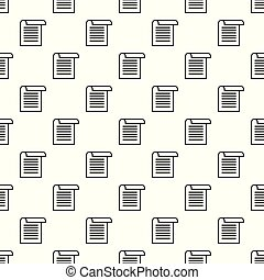 Office paper pattern seamless vector repeat for any web...