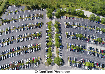 Office Parking Lot Aerial