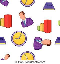 Office pattern, cartoon style