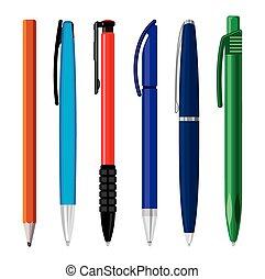 Office pens vector illustration