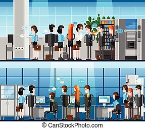 Office People Cartoon Composition