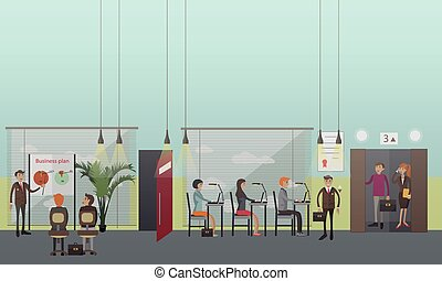 Office people concept vector illustration in flat style.