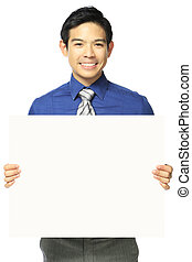 Office Person With Blank Message