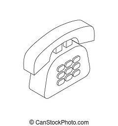Office phone icon, isometric 3d style