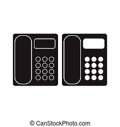Office Phone icon Telephone Flat Sign. isolated on White Background.