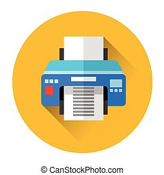Office Printer Colorful Icon
