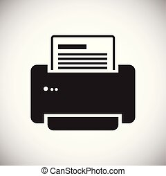 Office printer icon on white background for graphic and web design, Modern simple vector sign. Internet concept. Trendy symbol for website design web button or mobile.