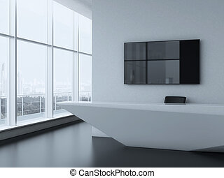 Office reception desk . 3d render