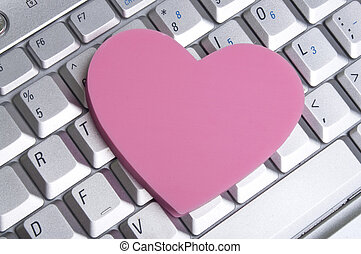 Office Romance - Office or Internet Romance Concept Image