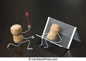 office romance,two wine corks, dating