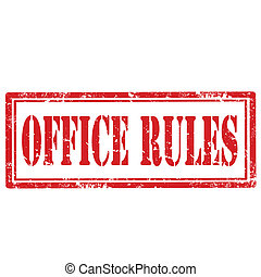 Office Rules-stamp