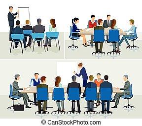 Office-Seminar - Group of people walking