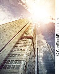 office skyskraper in the sun