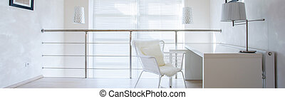 Office space at home - Panoramic view of small private...