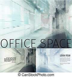 office space backgrounds - vector concept of a modern office...