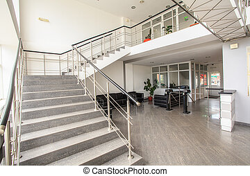 office staircase - The warehouse complex for the storage of ...