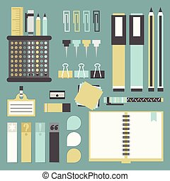 Office stationery and supplies set