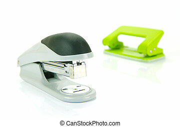 Office Stationery - Office stationery isolated against a ...