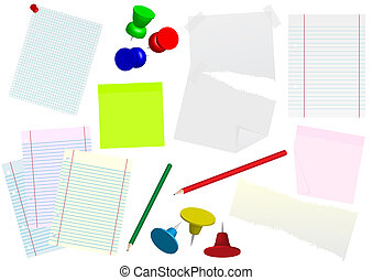 Office Stationery - Set of Office Stationary - Papers, Memo...
