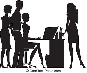 Office - Silhoute of a group of office workers