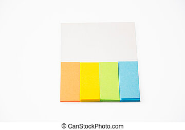 office - postits on white background