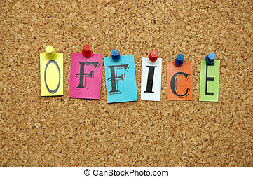 Office pinned on noticeboard