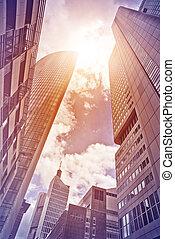 office street in the sun