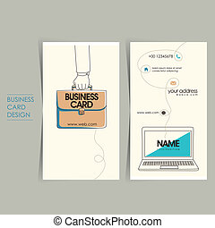 office style vector business card set